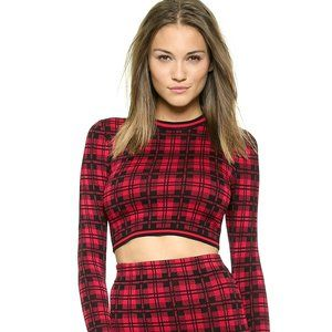 Torn by Ronny Kobo Oli Crop Top in London Plaid